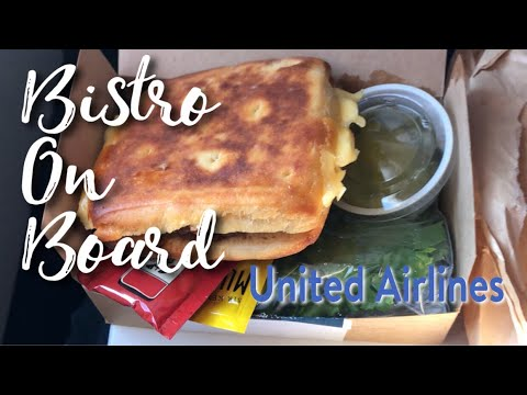United Airlines Bistro On Board meals for purchase review