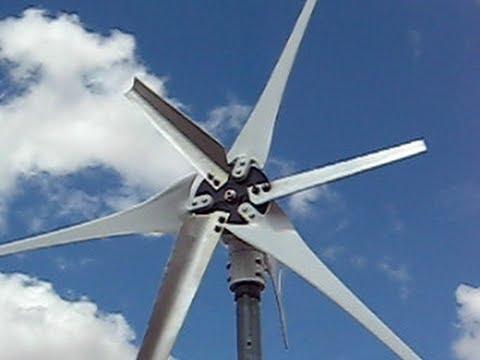 """Wind Turbine Low Wind Speed Start """"Short Blades"""". Build Your Own."""