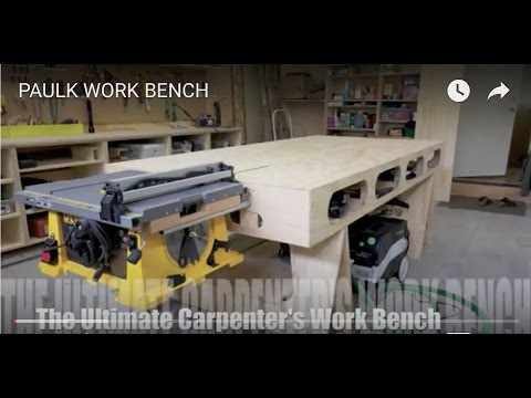 PAULK WORK BENCH (The ultimate portable work bench)