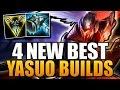4 NEW BEST YASUO BUILDS | Ft. ArKaDaTa - League of Legends