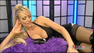 lucy zara talking with Stockings