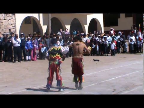 Danzantes de tijeras en Conaica-HUANCAVELICA