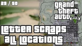 GTA V 5 ALL LETTER SCRAP LOCATIONS - 100% GRAND THEFT AUTO 5 ACHIEVEMENT GUIDE