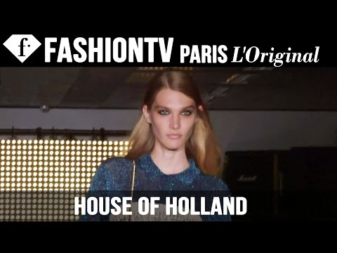 House of Holland Spring/Summer 2015 ft Alexa Chung, Pixie Geldof | London Fashion Week | FashionTV