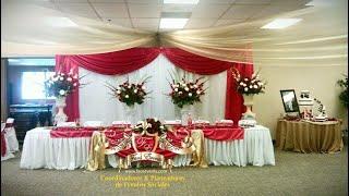 FAOS EVENTS Decoracion de salon para boda color rojo y dorados