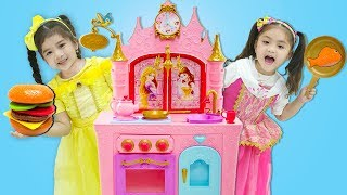 Suri Plays with Princess Kitchen Play Set & Food Toys for Kids