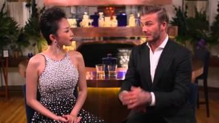 Tóc Tiên trò chuyện với David Beckham nói tiếng Anh cực chuẩn