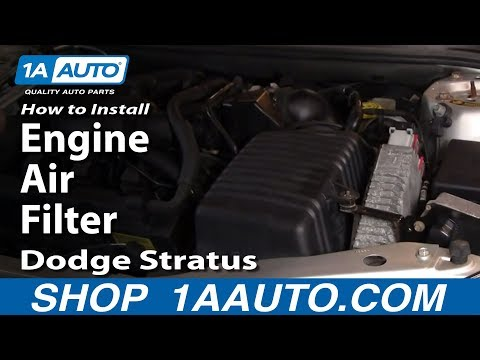 How To Install Replace Engine Air Filter Dodge Stratus 2.7L V6 1AAuto.com