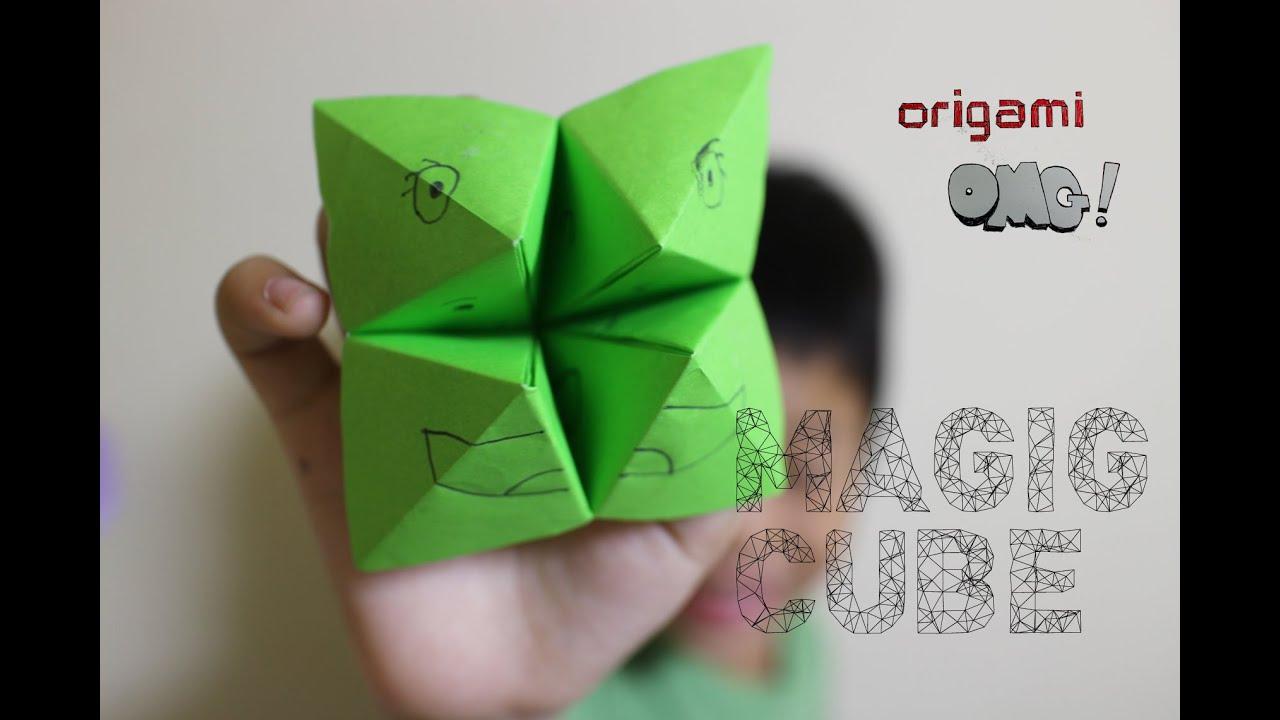 Оригами волшебные кубики схемы