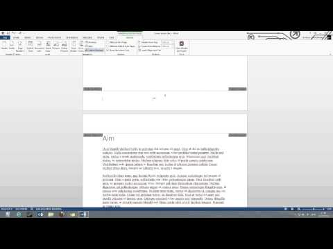 Page numbers starting at a specific page in Word 2013 / 2010