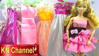 Đồ chơi trẻ em Bé Na Nhật ký Búp bê Barbie tập 6 Thuê đầm búp bê Baby doll dresses Kids toys