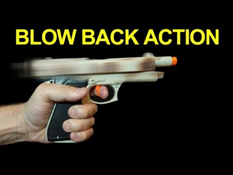 Cheap Gun with Blow Back Action !! Not Airsoft -  Filmmaking QUICK FX