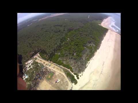 Paraquedistas no Parque de Campismo de Cortega�a