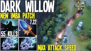 2x Moon Shards + 200 Attack Speed Dark Willow 7.22 New IMBA | Dota 2 Silly Builds