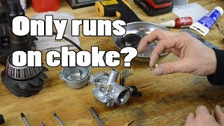 WHY your motorcycle only runs on CHOKE
