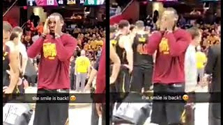 LeBron James Plays Peek A Boo During A Game With His Daughter Zhuri
