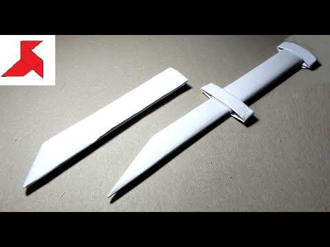 Как сделать нож из бумаги поэтапно 20