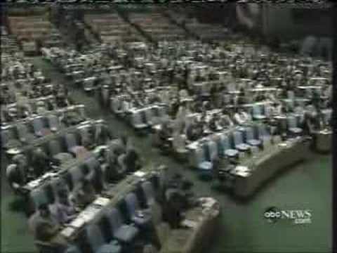 "Chavez calls Bush ""The Devil"". UN Applauds (Sept '06)"