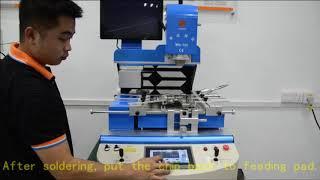 auto camera HD optical system with auto feed laptop bga rework station machine