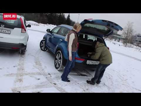 Honda CR-V 2013 против Kia Sportage — За кадром