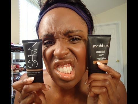 SMASHBOX VS NARS DEMO   BATTLE OF THE TINTED MOISTURIZERS!