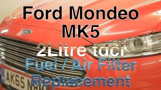 Ford Mondeo mk5 2 Litre tdci Fuel & Air Filter Replacement