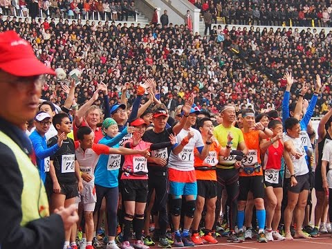 Pyongyang marathon 2015 ! run in North Korea!#Angela GoPro selfie #