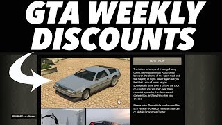 GTA 5 ONLINE Weekly Discounts! (Deluxo, Kuruma And More)
