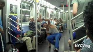 Subway Dancers in New York City - E Train