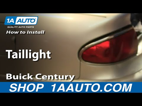 How To Install Replace Taillight Buick Century 97-05 1AAuto.com