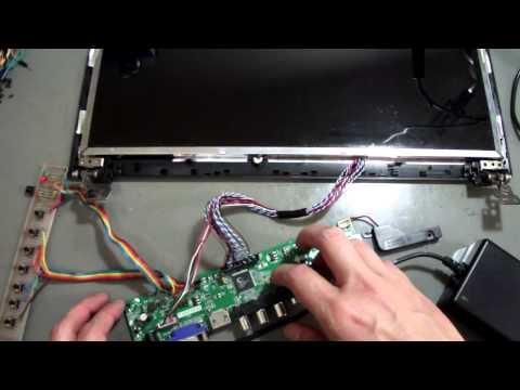 Como transformar uma tela LCD de notebook em uma TV
