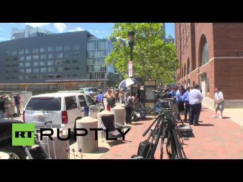 USA: Boston Marathon bombing victims leave court after Tsarnaev sentencing