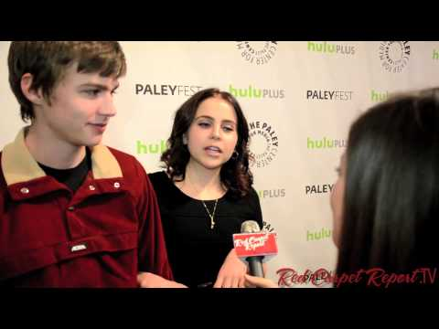 Mae Whitman Miles Heizer At Paleyfest For Evening W Nbc