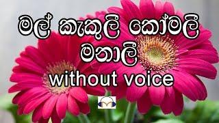 Mal Kakuli Komali Manali Karaoke (without voice) මල් කැකුලී කෝමලී මනාලී