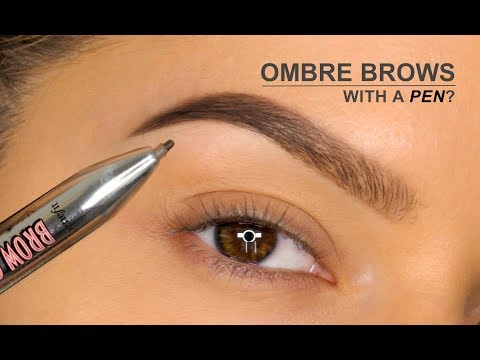 Ombré Brows With A PEN?!!   Benefit Brow Contour Pro Review   Shonagh Scott