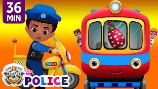 ChuChu TV Police Chase Thief in Police Car to Save Huge Surprise Egg Toys Gifts - The Train Escape