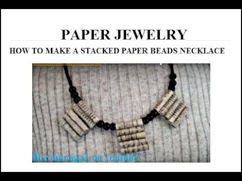 Paper Jewellery Necklace Stacked Paper Beads Necklace