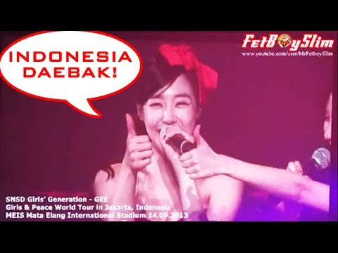 SNSD GIRLS GENERATION - GEE ( Tiffany : Indonesia Daebak) live...