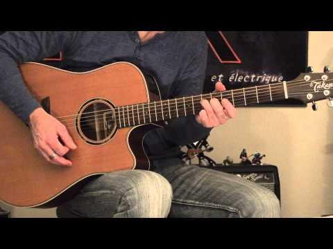 Guitare acoustique (progression accords ouverts)