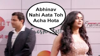 Shweta Tiwari Ignoring Husband Abhinav Kohli At Zee Gold Awards 2018