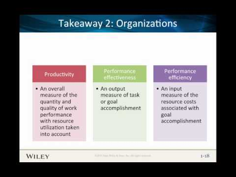 Organizations and Managers
