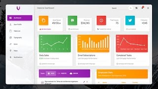 Creative-Tim Style Material Design Dashboard - C#, VB.NET - PROGRAMMING - Bunifu UI + DataVIZ