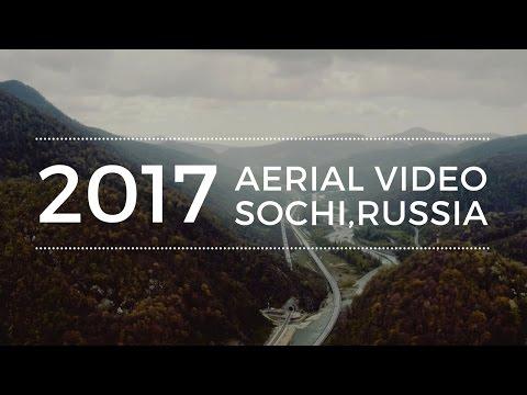 Красивое видео о Сочи 2017. Аэросъемка 4К. Горки Город, Олимпийский Парк.