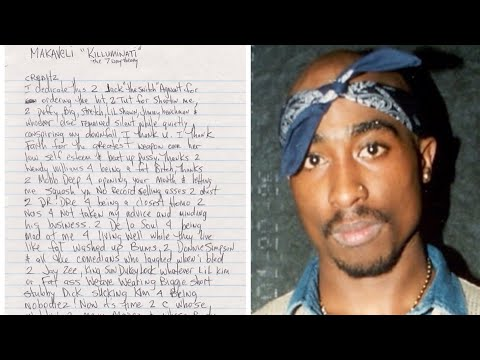 New UNRELEASED Note Written By Pac CALLS OUT SUSPECTS BY NAME!! AIRS OUT DRE & JAYZ!!