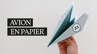 TUTO FACILE AVION EN PAPIER | Modèle à télécharger gratuitement