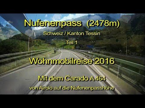 Wohnmobil – Nufenenpass – Schweiz –Teil 1 - Blick durch die Windschutzscheibe-Komplett & Echtzeit