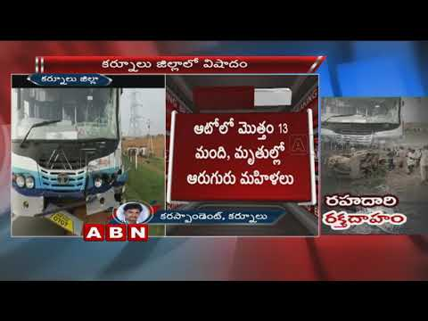 Massive Road Mishap in Kurnool District | 7 lost life | 5 Wounded | ABN Telugu