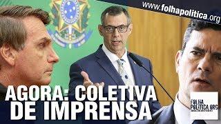 AGORA: Coletiva do Governo Bolsonaro - Doença de Michelle Bolsonaro, Sergio Moro, Tsunami