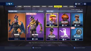 NEW NIGHT SLICER PICKAXE!   DAILY ITEM SHOP TODAY!   FORTNITE BATTLE ROYALE (15/11/2018)