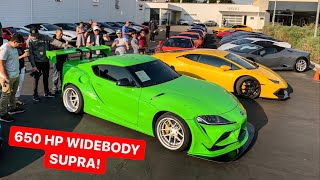 HOW TO EMBARRASS SUPERCAR OWNERS - BRING WIDEBODY 2020 TOYOTA SUPRA!